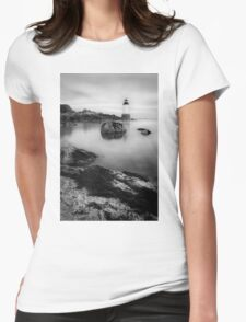 LIghthouse in Salem, MA Womens Fitted T-Shirt
