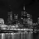 Melbourne by Night by DavidsArt
