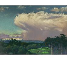 From Lansdowne - Evening Thunderhead Over Comboyne Photographic Print
