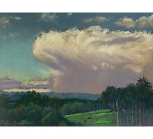From Lansdowne - Evening Thunderhead Over Comboyne Photographic Print