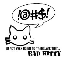 Bad Kitty - Mixed Messages Photographic Print