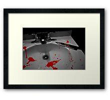 Blood Splattered Sink and Knife Framed Print