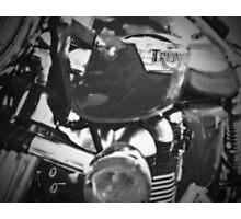 Triumph Thruxton 900 B/W Photographic Print