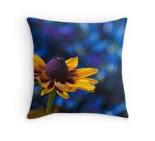 Sunny Day, Blue Mood Throw Pillow