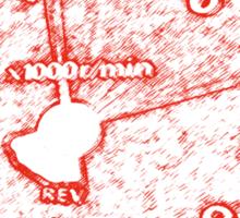 Rev Counter Design - No half throttle Sticker