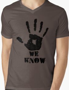 WE KNOW Mens V-Neck T-Shirt