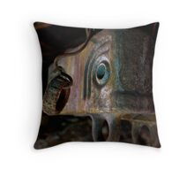 Fishing for Cast Iron Fish Underground Throw Pillow