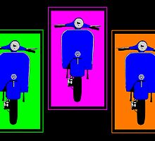 Pop Art Blue Scooters by Auslandesign