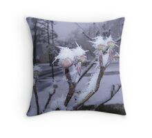 Crystals on Dogwood Throw Pillow