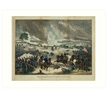 Civil War The Battle of Gettysburg by Thomas Kelly (1867) Art Print