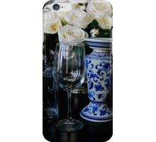 Table Setting in Blue iPhone Case/Skin