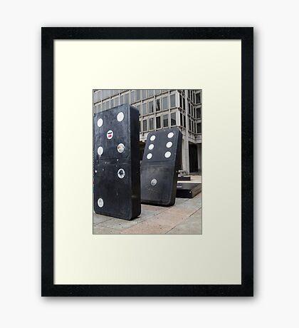 the domino effect Framed Print