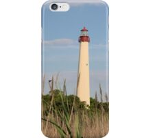 Cape May Lighthouse through the Reeds iPhone Case/Skin