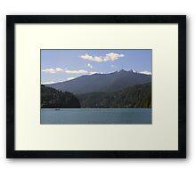 Lake Mills, Olympic National Park, Washington Framed Print