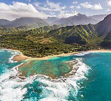 Tunnels Beach Kauai by Pierre Leclerc Photography