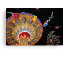 Swing Ride in Action Canvas Print
