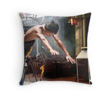Street Perfomer Throw Pillow