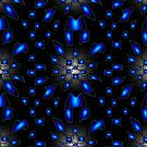 Abstract Checkerboard Space Pattern by Sarah Curtiss