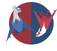 Latias and Latios by Lenirra