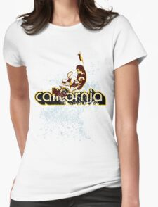 california surfing boy Womens Fitted T-Shirt