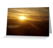 Sunrise over the Columbia River #13 Greeting Card