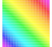 Rainbow Lines Photographic Print