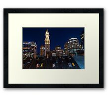Boston, Old and New Framed Print