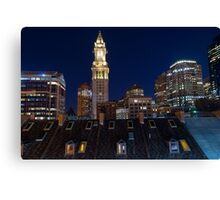 Boston, Old and New Canvas Print