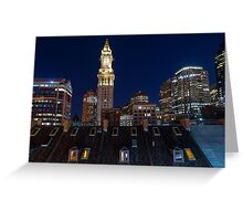 Boston, Old and New Greeting Card
