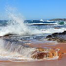 Long reef in the background from Turrimetta Beach by Doug Cliff