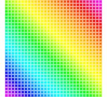 Rainbow Squares Photographic Print