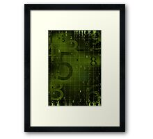 Digital background Framed Print