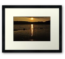 sunset on another hot humid day Framed Print