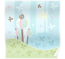 Floral creative background Poster