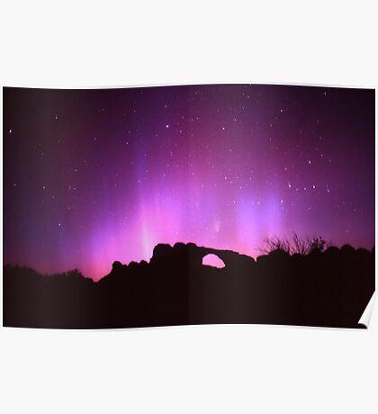 Aurora Over Skyline Arch Poster
