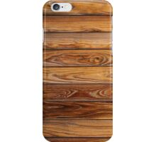 Wood grain pattern cover on the phone iPhone Case/Skin