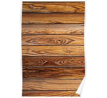 Wood grain pattern cover on the phone Poster