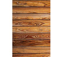 Wood grain pattern cover on the phone Photographic Print