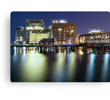 Exploring Boston at night Canvas Print
