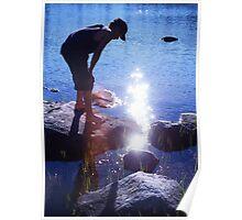 Boy at the Lakeshore Poster