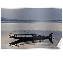 Dal lake at dusk Poster
