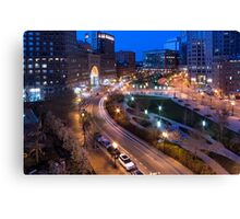 Early morning in Boston Canvas Print