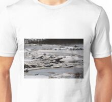 Ice Jams on the Red Unisex T-Shirt