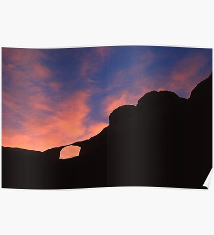 Castle Arch at Sunset Poster