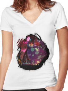 Butch as the Madhatter Women's Fitted V-Neck T-Shirt