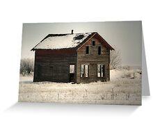 Alone on the Stark Prairie Greeting Card