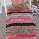 Crochet Cushion Chair Cover by 4spotmore