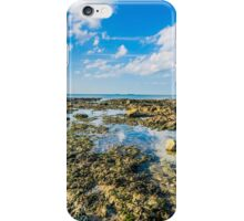 The rocks on the beach of Botany Bay, Kent at low tide iPhone Case/Skin