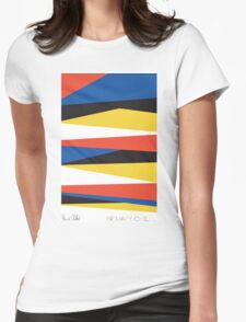Block Color Signature Womens Fitted T-Shirt