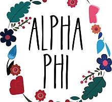 Alpha Phi Flower Wreath by Margaret Young